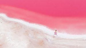 Hutt Lagoon ทะเลสาบสีชมพู หวานแหววชวนฝัน ในออสเตรเลีย