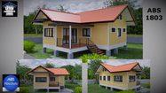 แบบบ้านชั้นเดียวยกสูง ขนาดเล็ก พื้นที่ใช้สอย 72 ตร.ม. ราคาไม่ถึงล้าน